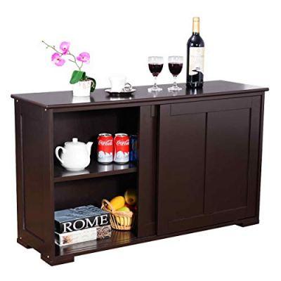 WATERJOY Kitchen Storage Sideboard, Stackable Buffet Storage Cabinet