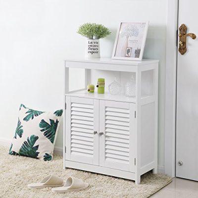 VASAGLE Bathroom Storage Floor Cabinet Free Standing