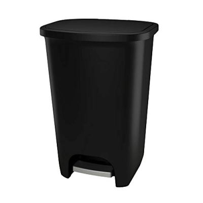 GLAD Extra Capacity Plastic Step Trash Can with Clorox Odor Protection