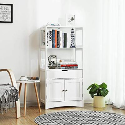 VASAGLE Bathroom Storage Cabinet with Drawer, 2 Open Shelves