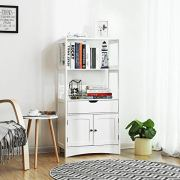 VASAGLE Bathroom Storage Cabinet with Drawer, 2 Open Shelves