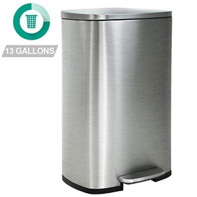 Kitchen Trash Can with Lid for Office Bedroom Bathroom Step Trash