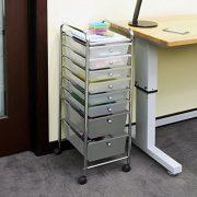 Seville Classics 8-Drawer Storage Bin Organizer Cart