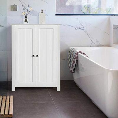 Yaheetech Bathroom Floor Storage Cabinet Space Saver Organizer