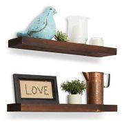 "Reclaimed Wood Floating Shelves - 24""x5.5""x1.5"" - Floating Shelf Set of 2"