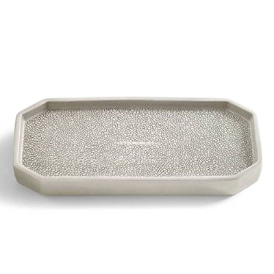 Kassatex Unisex Shagreen Bath Accessories Tray Porcelain