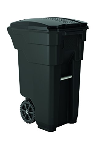 """Suncast Commercial Wheeled Trash Can, 36.5"""" Height, 20.25"""" Width"""