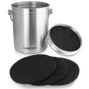 LINKYO Compost Bin - Stainless Steel Kitchen Composter