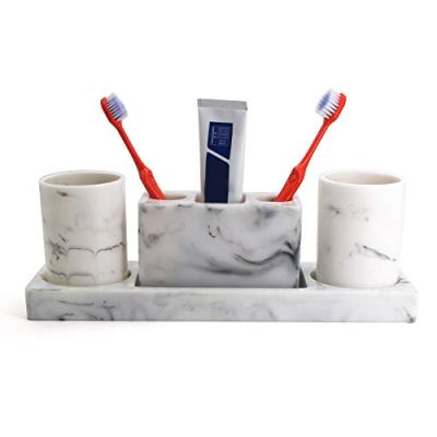 LUANT Bathroom Accessory Set with Tumbler, Electric Toothbrush Holder