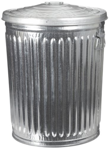 Witt Industries Galvanized Steel 32-Gallon Light Duty Trash Can with Lid