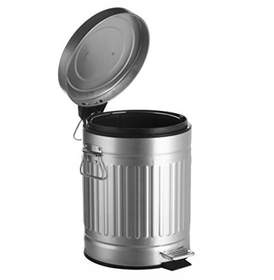 AMG and Enchante Accessories, Round Waste Bin, 5L Garbage Trash Can