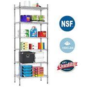 NSF Wire Shelf Organizer 6 Wire Shelving Unit Metal Storage Shelves