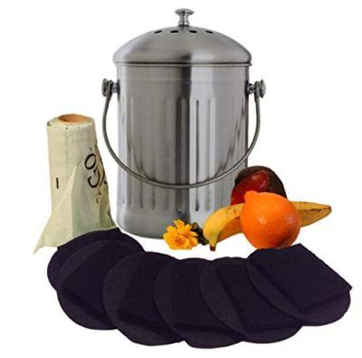 Kitchen Compost Pail Bin for Countertop - 1.3 Gallon Food Scrap Container