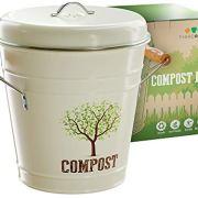 Third Rock Compost Bin for Kitchen Counter - 1.3 Gallon 5 Liter