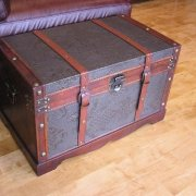 Styled Shopping Saratoga Faux Leather Chest Wooden Steamer Trunk