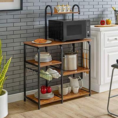 Mr IRONSTONE Vintage Kitchen Baker's Rack Utility Storage Shelf