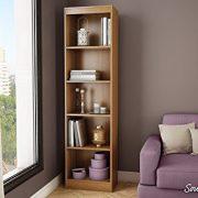 South Shore Narrow 5-Shelf Storage Bookcase
