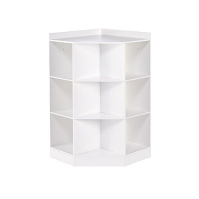 RiverRidge 6-Cubby, 3-Shelf Kids Corner Cabinet, White