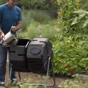 Dual Batch Compost Tumbler 100% Recycled Plastic Outdoor