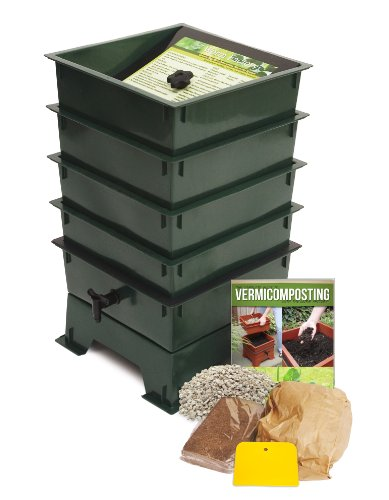 Worm Factory 4-Tray Worm Composter, Green