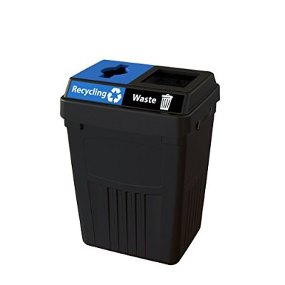 CleanRiver Flex E bin Indoor and Outdoor Sturdy 2-in-1 Waste and Recycling Bin