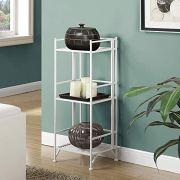 Convenience Concepts Designs2Go X-Tra Storage 3-Tier Folding Metal Shelf