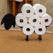 East World Sheep Toilet Paper Holder Free Standing and Wall Mount Toilet