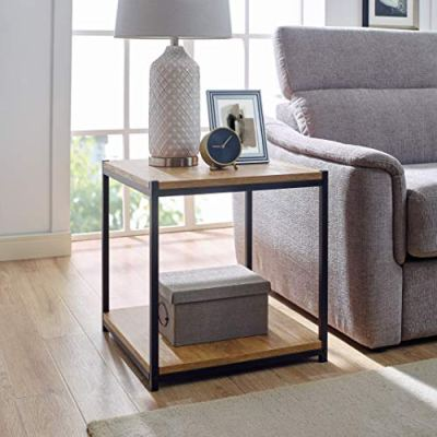 Tall Side End Table by CAFFOZ Furniture Designs |Brooklyn Series