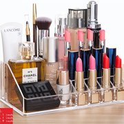 Cq acrylic Large 8 Tier Clear Acrylic Cosmetic Makeup Storage Cube Organizer