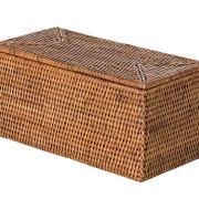Kouboo La Jolla Rectangular Rattan Box, Honey-Brown Toilet Roll