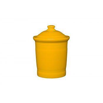 Homer Laughlin quart Small Canister, Daffodil