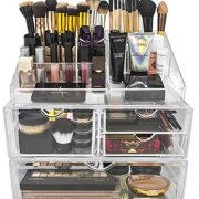 Sorbus Acrylic Cosmetics Makeup and Jewelry Storage Case X-Large Display Sets