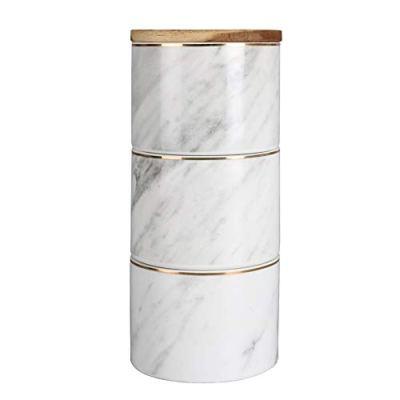 Sunddo White Ceramic Canister Set for Kitchen for Coffee Tea Sugar