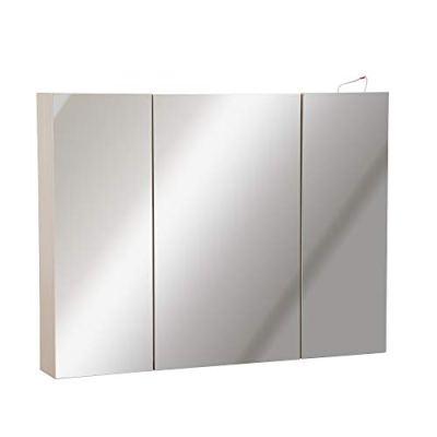 "kleankin 36"" x 24"" Triple Door LED Bathroom Mirror Medicine Cabinet"