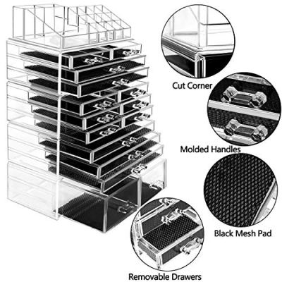 hblife Makeup Organizer 5 Pieces Acrylic Cosmetic Storage Drawers
