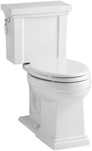 KOHLER Tresham Comfort Height Two-Piece Elongated 1.28 GPF Toilet
