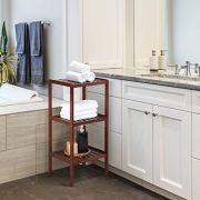 Bamboo Bathroom Shelf 3-Tier Small Utility Storage Shelf Rack