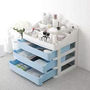 """Beeiee Makeup Organizer XL Size 13.42""""x10.11""""x12.04"""" inch Cosmetic Storage Case"""