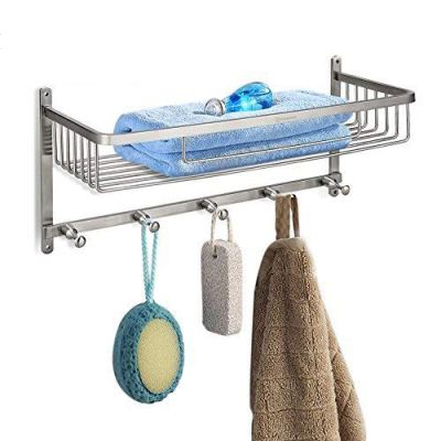 HOMEIDEAS Large Capacity Shower Caddy Stainless Steel Corner Shower Basket