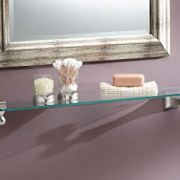Moen Retreat 22-Inch Wide x 5-Inch Deep Decorative Glass Bathroom Vanity Shelf