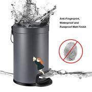 YCTEC Mini Trash Can with Lid Soft Close, Round Step Bathroom Trash Can