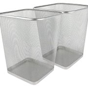Greenco Mesh Wastebasket Trash Can, Square