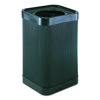 Safco Products At-Your-Disposal Trash Can, Black
