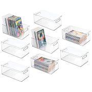 mDesign Plastic Home Storage Organizer Container Bin