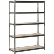 Muscle Rack 5-Shelf Steel Shelving, Silver-Vein