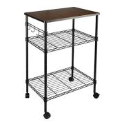alvorog 3-Tier Rolling Kitchen Cart, Microwave Storage Rack Utility