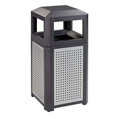 Safco Trash Can, 15 Gallon, Black