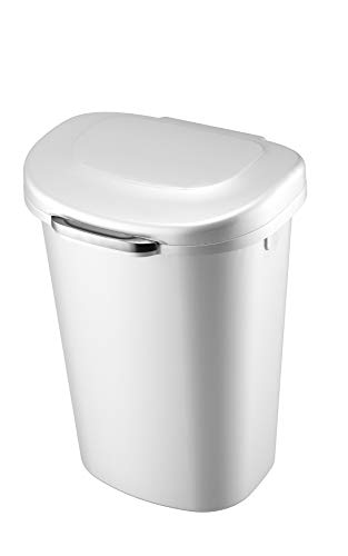 Rubbermaid Touch Top Lid Trash Can for Home, Kitchen, and Bathroom Garbage