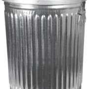 Witt Industries Galvanized Steel 20-Gallon Light Duty Trash Can