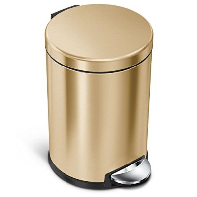 simplehuman round step trash can, 4.5 litre